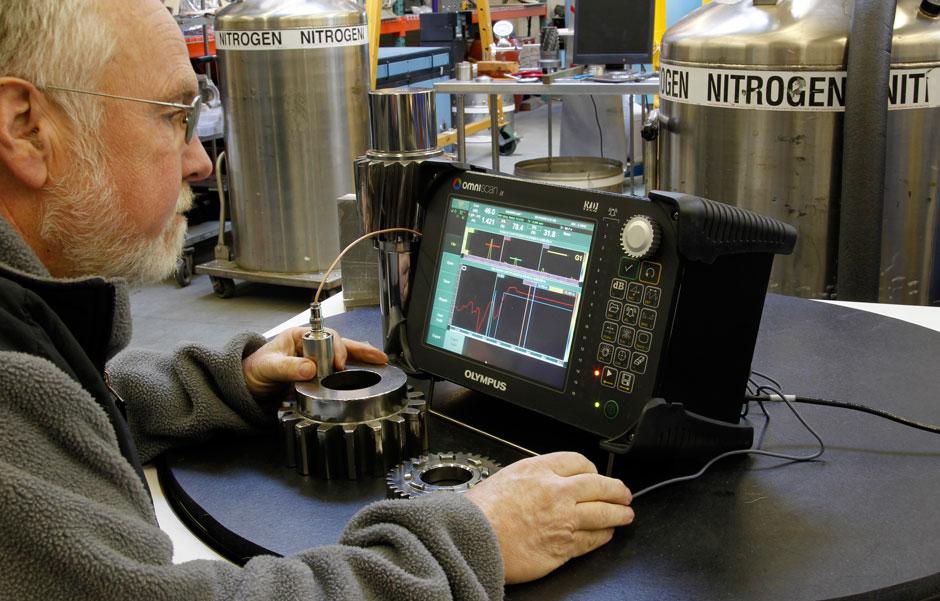 Ultrasonic Inspection Aircraft Engine Overhaul
